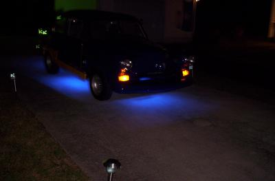 Hot Rod Blue Neon Lights