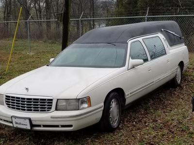 White Funeral Hearse