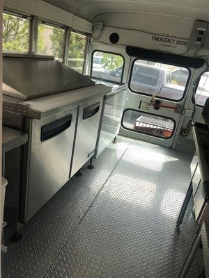 Interior of Food Truck