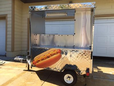 Stainless Steel Hot Dog Cart