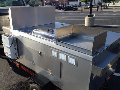 2016 Hot Dog Mobile Food Cart Catering Trailer Kiosk Stand, Never