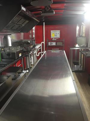 Inside of Concession Trailer