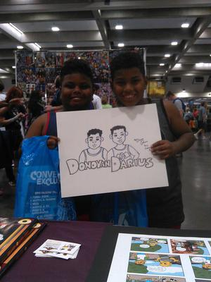 Two amazing kids I've drawn at Sacramento comic con 2016.