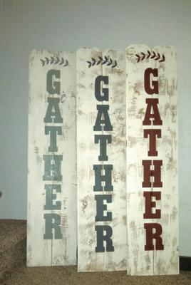 All Distressed, Handcrafted Wood Fence Panel Signs, Wood Home Decor
