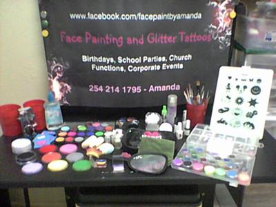 Face Painter and Glitter Tattoo Artist