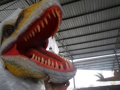Animatronic Life-Size Velociraptor Costume, 16 Ft. Long Costume