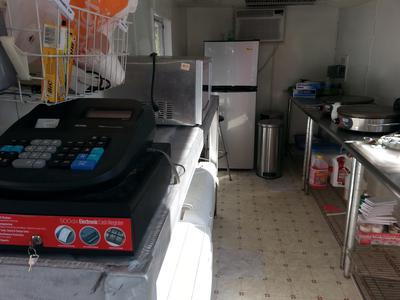 Interior of trailer.