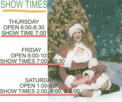 Christmas Flyer For The Boonie Barn Between Faxon & Chattanooga, Oklahoma.