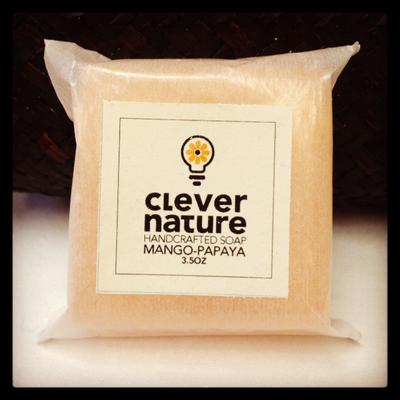 CleverNature Mango-Papaya Handcrafted Soap.