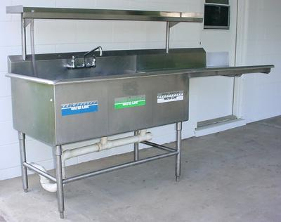 3 Compartment Commercial Sink