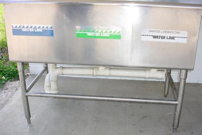 Commercial Sink, 3 Compartment