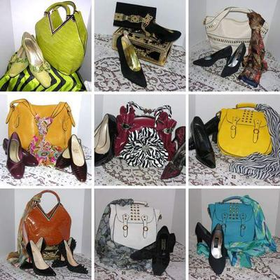 Complements Only Shoe, Handbag, & Scarf Display