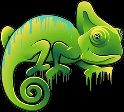 Crazy Chameleon Airbrush Tattoos