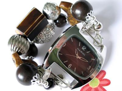 Hand Made Interchangeable Beaded Watch Band & Face
