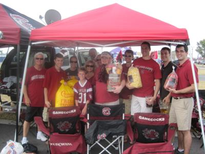 Grat for tailgating outside the stadium and providing concession equipment and supplies inside!