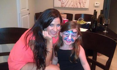 Cynnamon and Karly painted as a kitty.