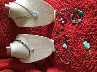 Handmade earrings.