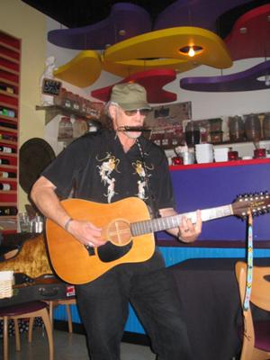 Performing Live at Dannys in Venice 2009.
