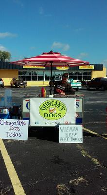 Duncan's Dogs mobile food cart, no event too big or too small!