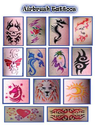 Waterproof Airbrush Tattoos!