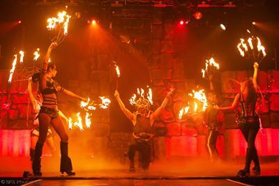 Flambeaux Fire Halloween show.