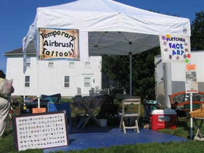 Setup at Olde Bristol Days, 2010.