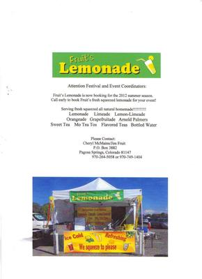 Fruit's Lemonade Beverage Concession