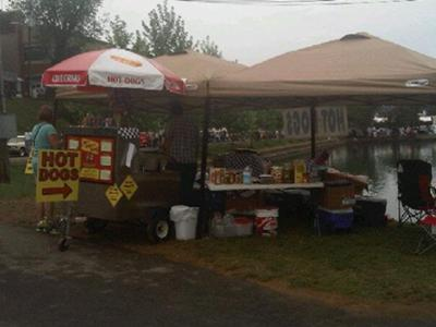 Our first event at Chilhowee Park Car Show 2012. Picture was taken before we were organized, but you can still get an idea of how we set up.