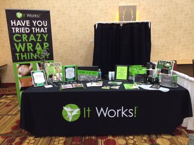My It Works Booth and Body Wrap Station
