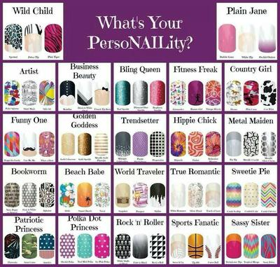 Example of some different nail wrap designs.