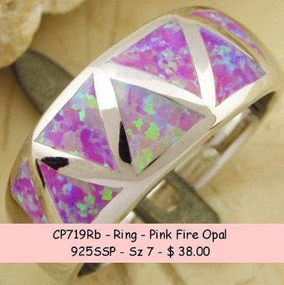 CP719Rb - Ring - Pink Fire Opal