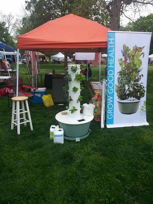 Tower Garden Booth at Nashville Earth Day