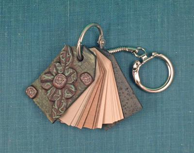 Polymer Clay Keychain Notebook