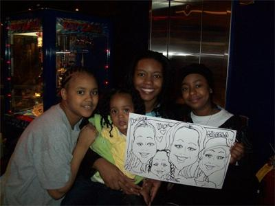 Our caricature artist creates memories that will last a lifetime!