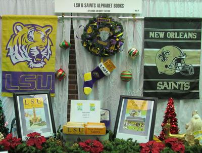 LSU, New Orleans Saints, and TCU Alphabet Books