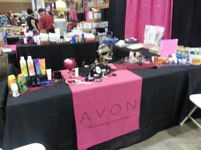 Booth at the Women's Expo (corner spot).