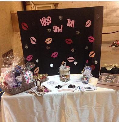 The kiss and tell booth.. (Just one of the many designs).