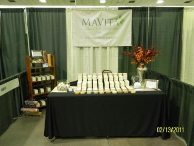MaVita at the Green Living Health Expo.