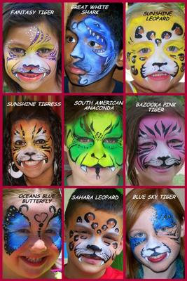 Face Painting Zoo Animals http://www.festivals-and-shows.com/mona-lisa-professional-face-painter-oklahoma-city-oklahoma.html