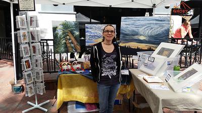 Artist Monica Gunderson - Art Booth