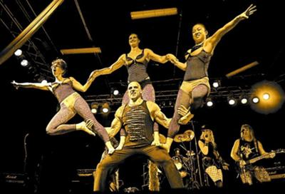 This was one of our stunts from the Rock Odyssey with Lipstick n Leather- A Great Show!