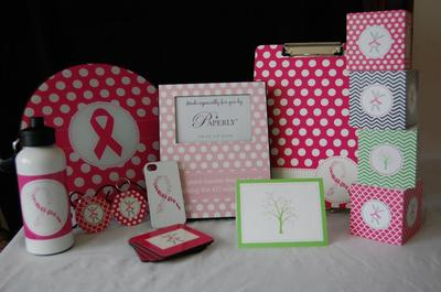 A sampling of our pink ribbon products.
