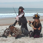 Sophia Fairesword and Lady Ma'Ree on the Shore.