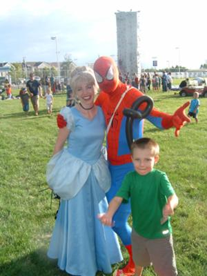 Cinderella and Spiderman are friends.