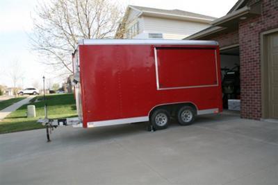 Purple Shamrock trailer exterior.