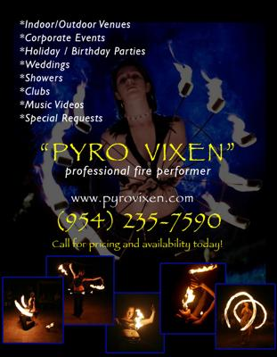 Pyro Vixen - Fire Performer