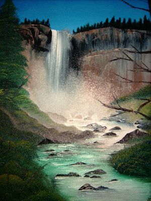 Oil Painting of Vernal Falls, Yosemite