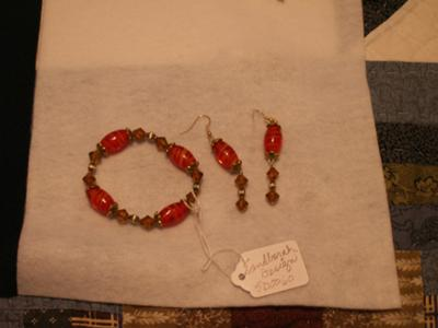 Vintage collection - earrings and bracelet.