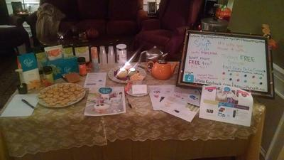 Steeped Tea with Marlaina Vendor Event.