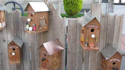 Rustic Birdhouses.